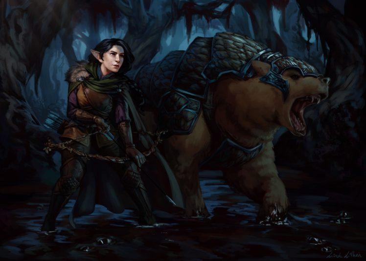 archer, Laura Bailey, Fantasy art, Critical Role, Trinket, Vex&039;ahlia HD Wallpaper Desktop Background