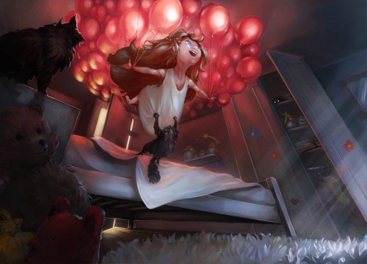 fantasy art, Cat HD Wallpaper Desktop Background