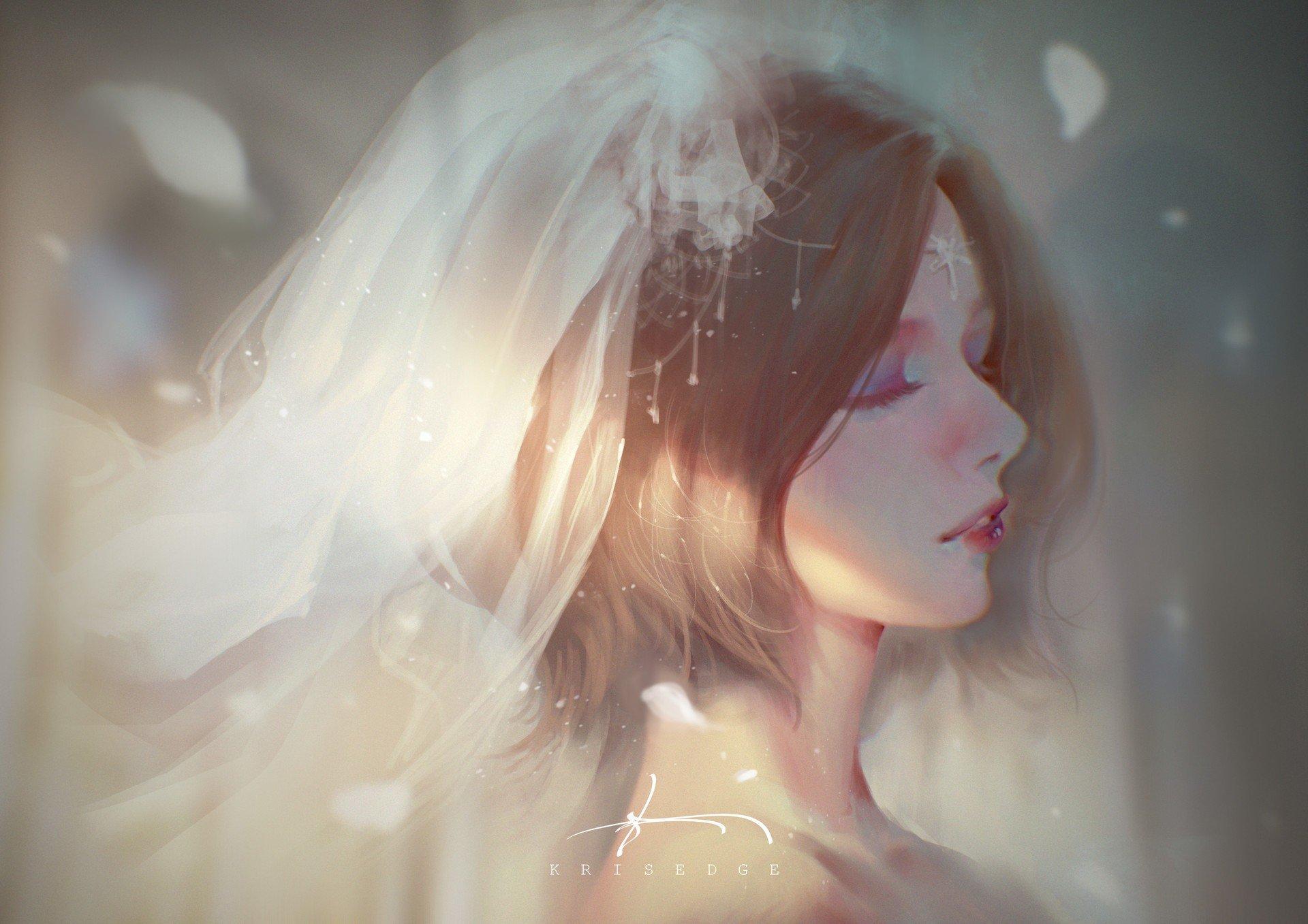 fantasy art, Weddings, Wedding dress Wallpaper
