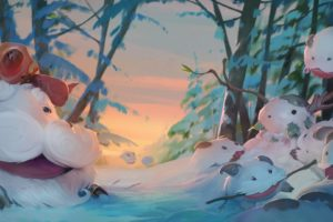 king, League of Legends, Poro, Winter, Cartoon, Summoner&039;s Rift