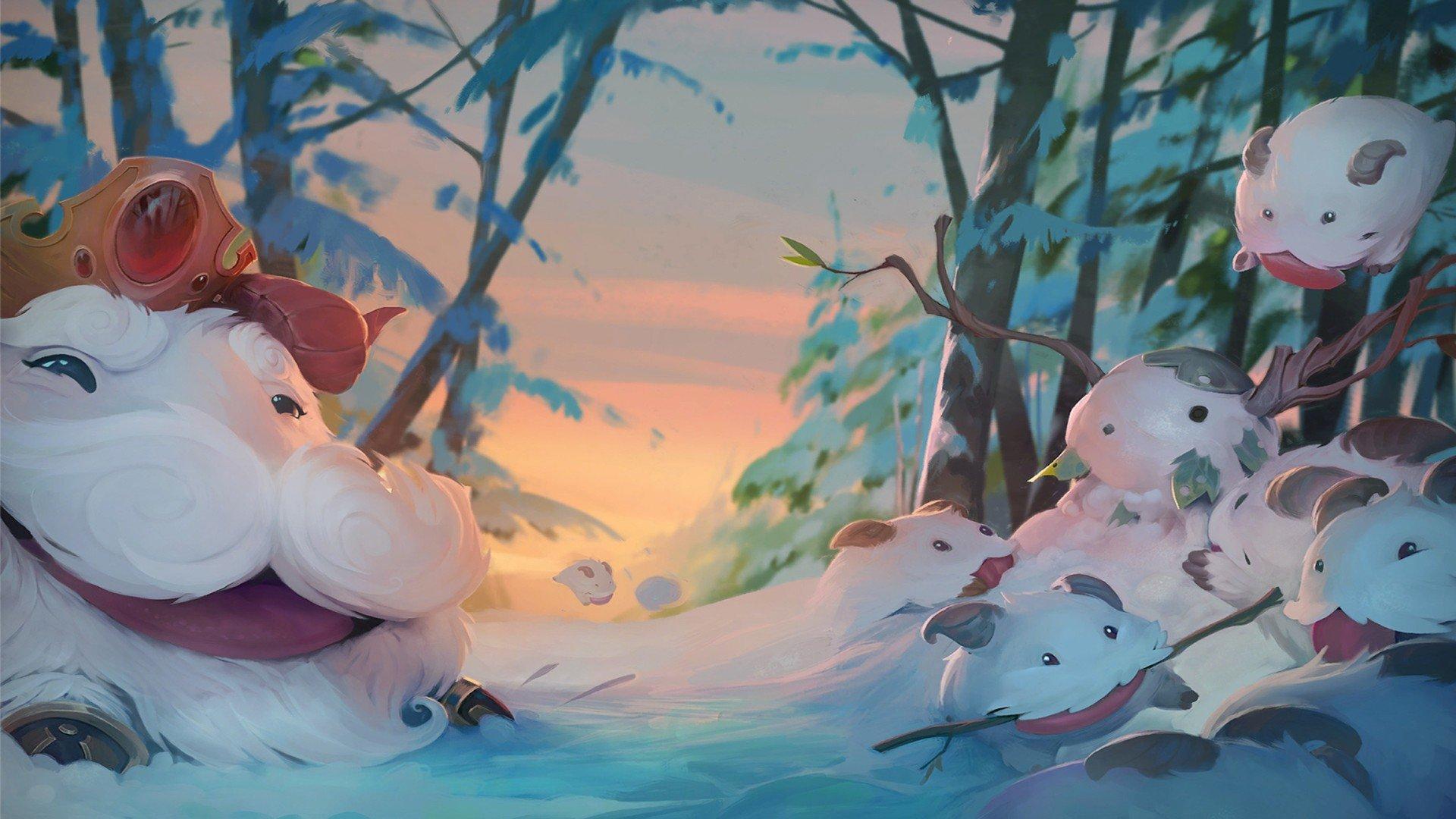 King League Of Legends Poro Winter Cartoon Summoner 039 S