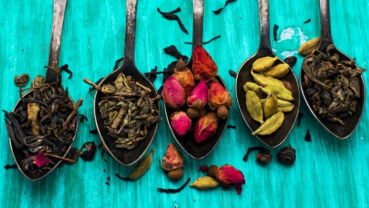 colorful, Spices, Spoons HD Wallpaper Desktop Background