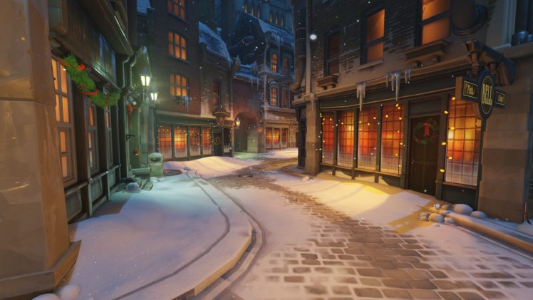 KINGSROW, Overwatch, Christmas HD Wallpaper Desktop Background