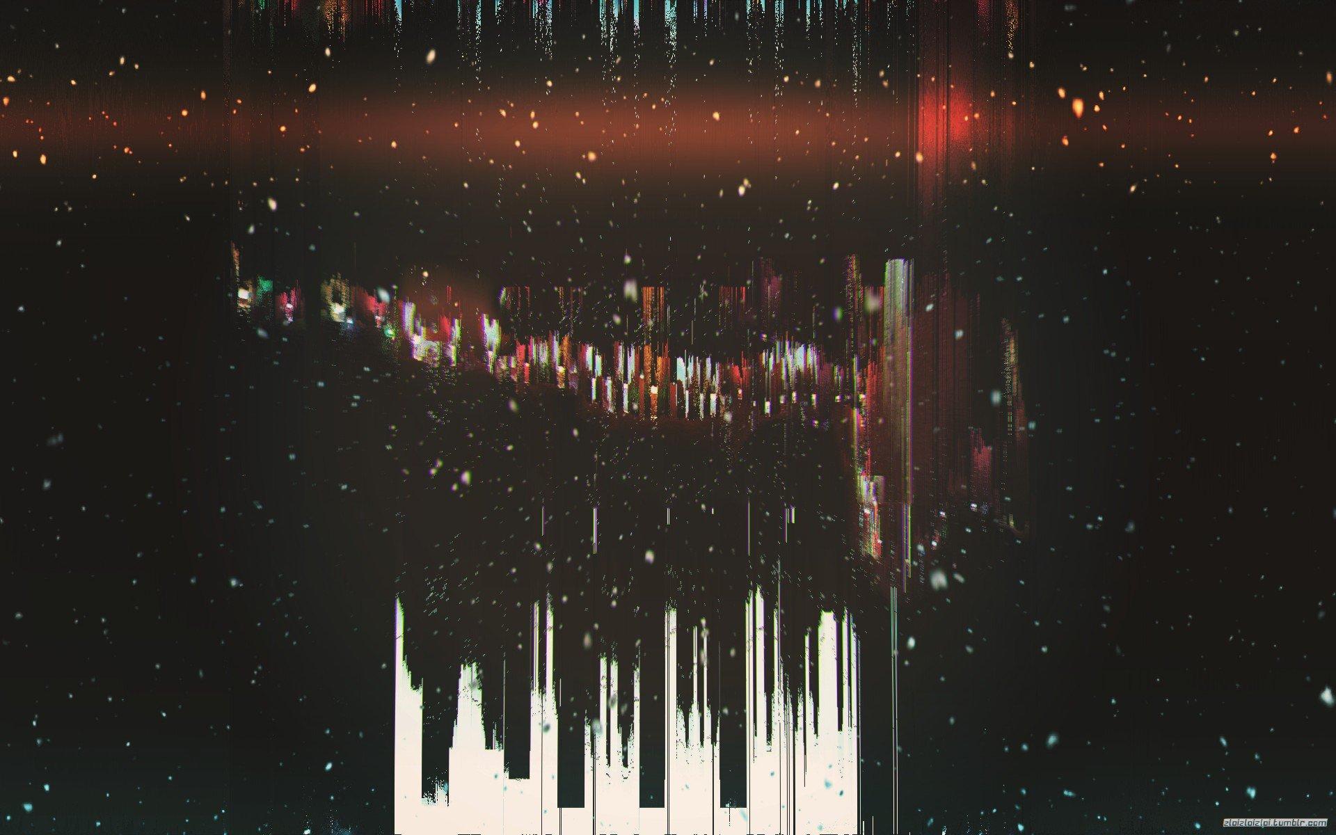 glitch art, Abstract, Minimalism, Dark, Black, Snow HD ...