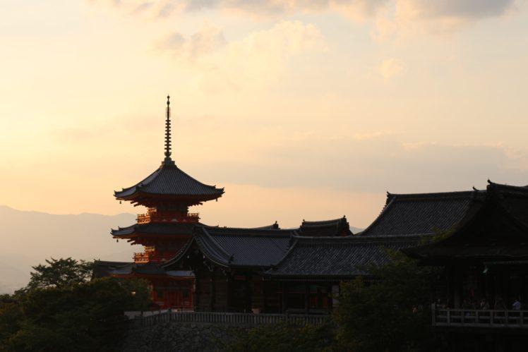 temple, Japan, Pagoda, Red HD Wallpaper Desktop Background