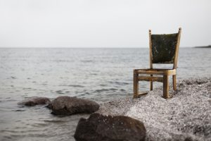 photography, Water, Sea, Chair, Rocks