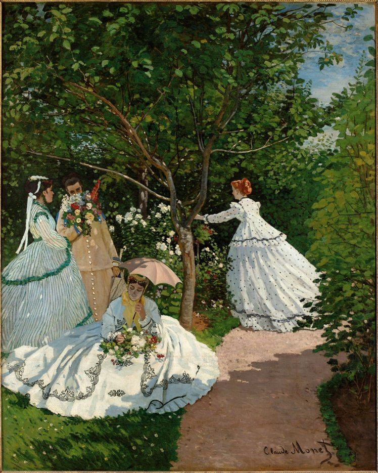 Claude Monet, Oil painting, Artwork, Femmes au jardin HD Wallpaper Desktop Background