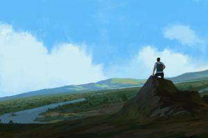 illustration, Artwork, Mountains