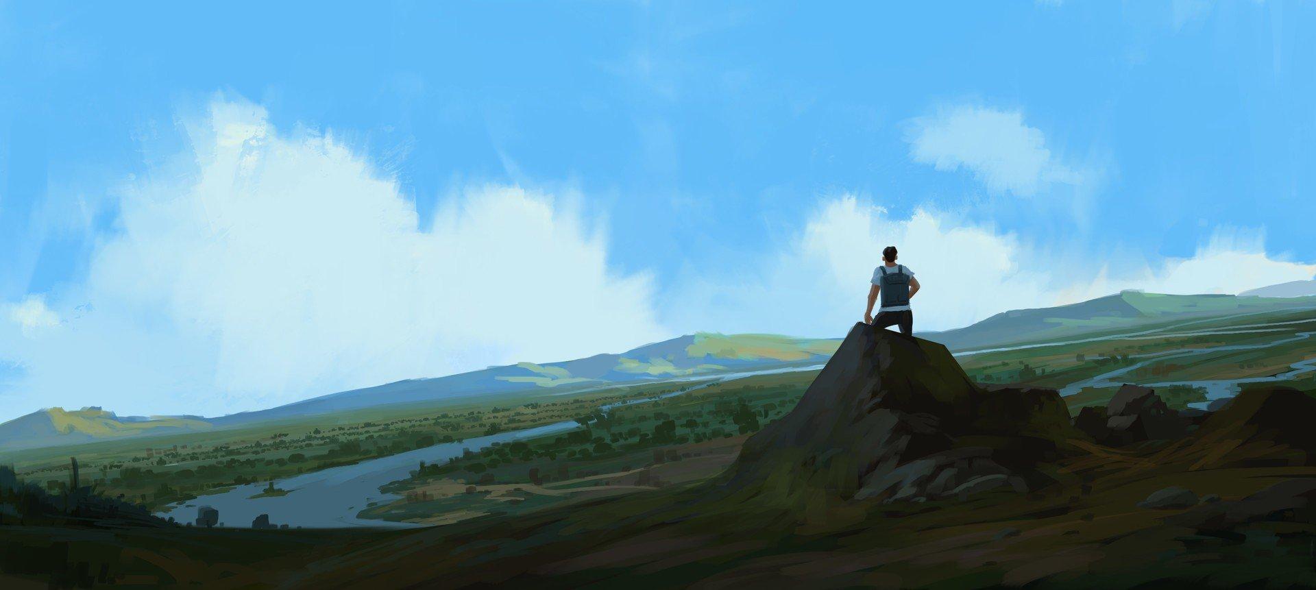 illustration, Artwork, Mountains Wallpaper
