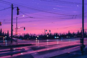illustration, Artwork, Aenami, Road, Stars