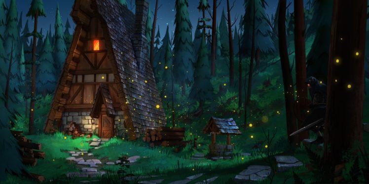 illustration, Artwork, Forest HD Wallpaper Desktop Background