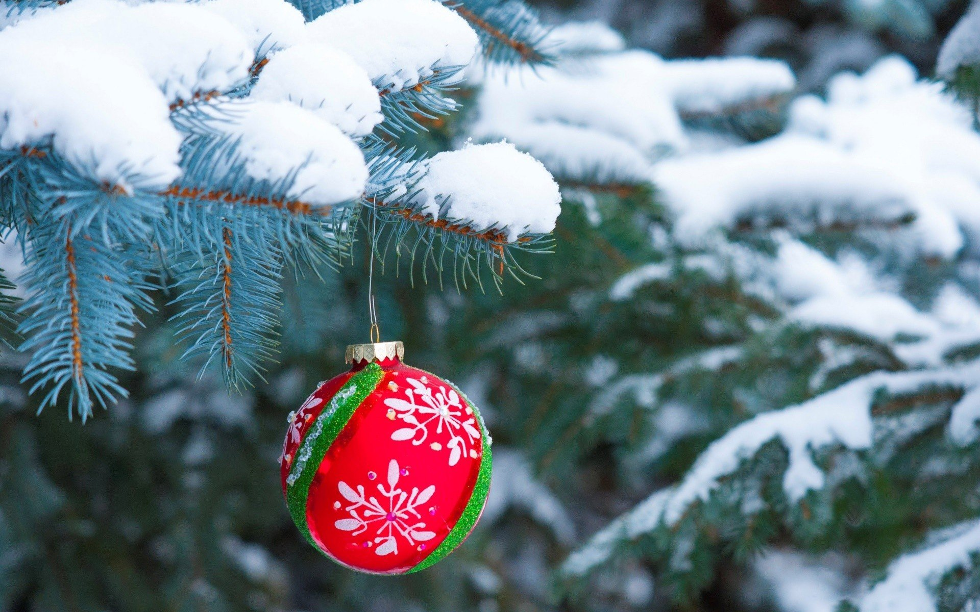 Winter, Snow, Christmas Ornaments, Christmas HD Wallpapers
