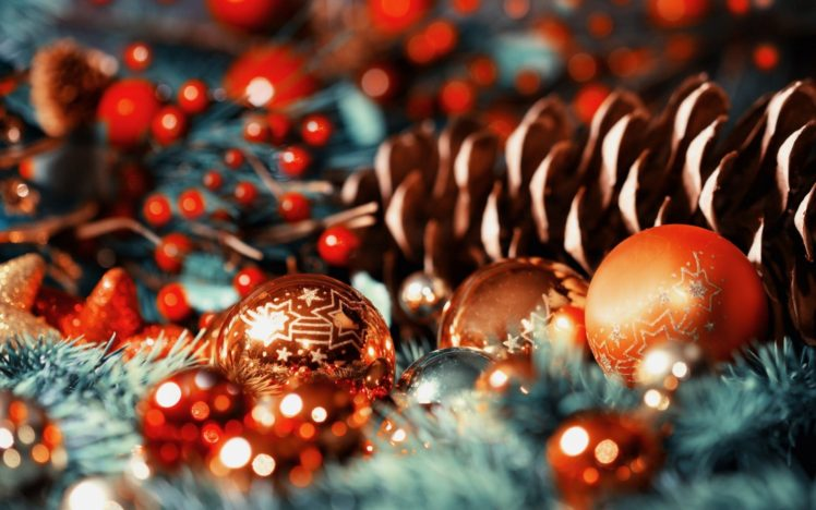 466375 Christmas Christmas ornaments bokeh depth of field pine cones
