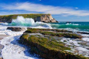 landscape, Water, Waves