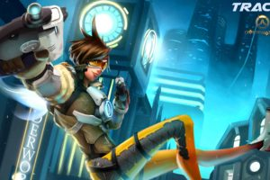 video games, Tracer (Overwatch), Overwatch