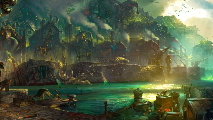 artwork, Fantasy art, Villages HD Wallpaper Desktop Background
