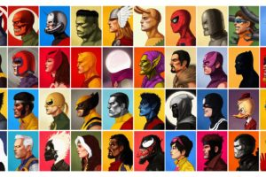 Magneto, Wolverine, Luke Cage, Marvel Comics, Hulk, Deadpool, Iron Man, Artwork, Green Goblin, Captain America