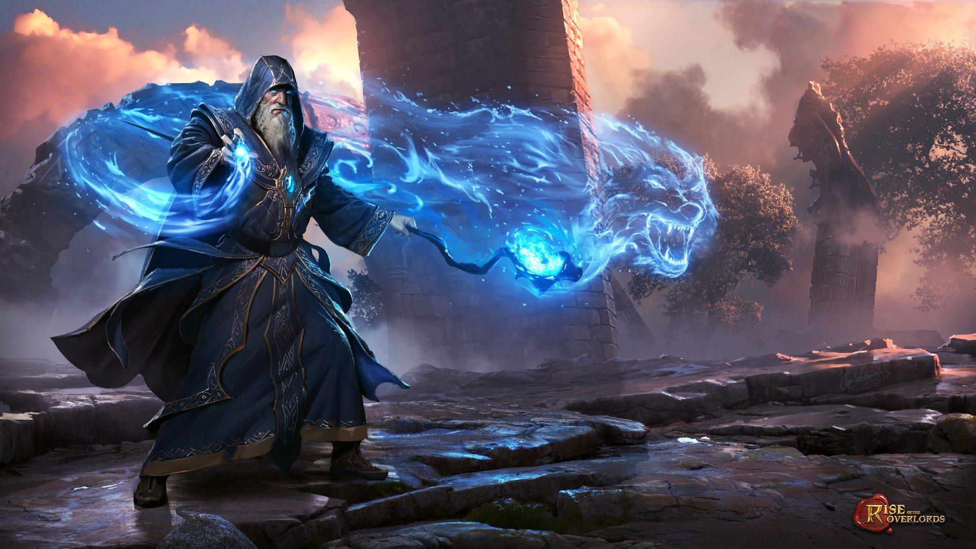 wizard, Men, Beards, Artwork, Magic, Robes, Video games HD ...
