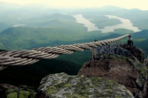 nature, Landscape, Depth of field, Mountains, Ropes, Lake, Rock, Hills, Moss