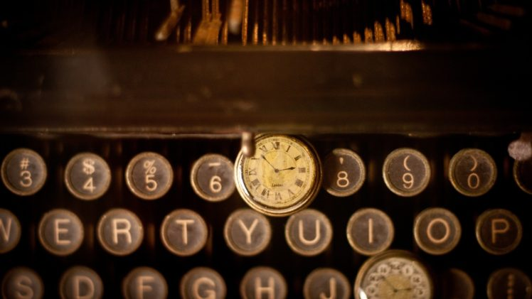 typewriters, Vintage, Sepia, Letter, Numbers, Keyboards, Watch, Pocket watch HD Wallpaper Desktop Background