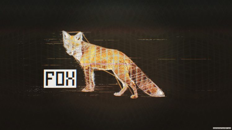 Glitch Art Fox Black Abstract Hd Wallpapers Desktop And Mobile Images Photos