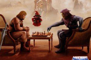 Skeletor, He Man, Chess, Orko
