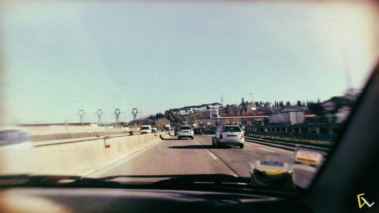Perugia, Road, Italy, Car, Sun, Sky HD Wallpaper Desktop Background
