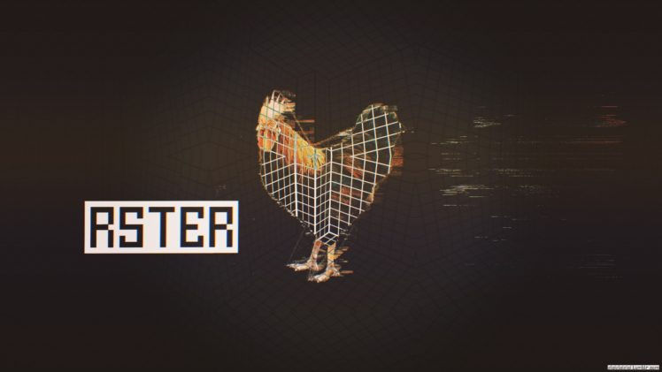 Glitch Art Abstract Rooster HD Wallpaper Desktop Background