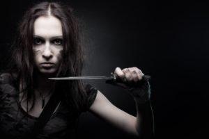 knife, Women