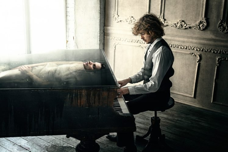 Muse, Pianists, Piano HD Wallpaper Desktop Background