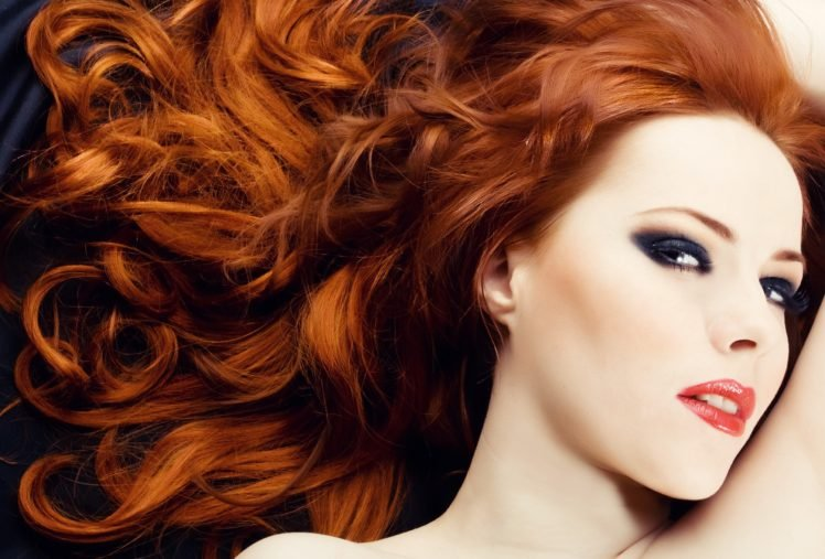 Women Model Redhead Long Hair Face Airbrushed Wavy Hair Makeup Red Lipstick Open Mouth Smooth Skin Portrait Hd Wallpapers Desktop And Mobile Images Photos