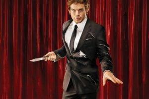 Dexter, Curtains, Knife, Suits, Dexter Morgan, Michael C. Hall