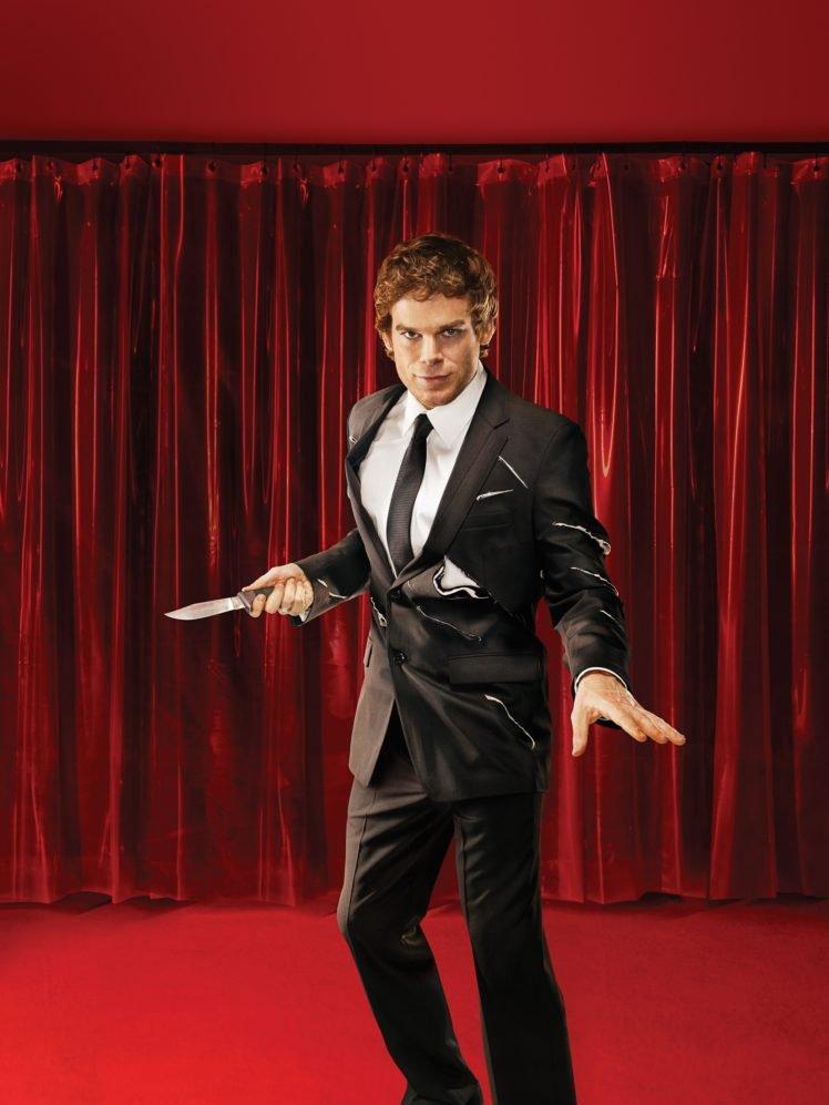 Dexter, Curtains, Knife, Suits, Dexter Morgan, Michael C. Hall HD Wallpaper Desktop Background