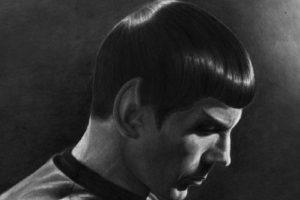 Leonard Nimoy, Spock, Drawing, Star Trek