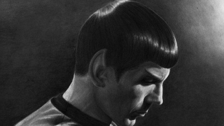 Leonard Nimoy, Spock, Drawing, Star Trek HD Wallpaper Desktop Background