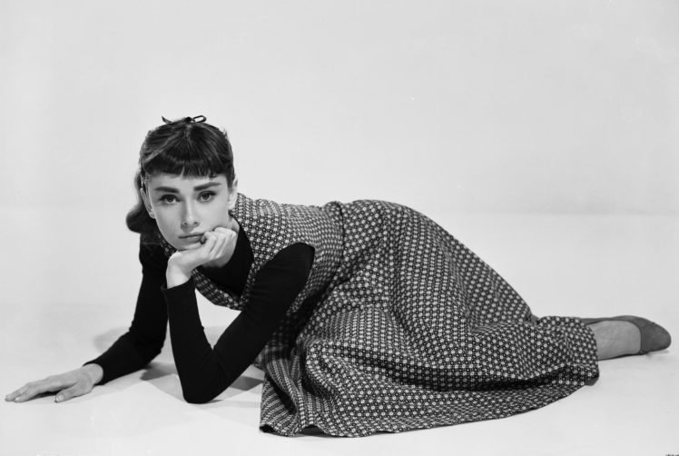 Audrey Hepburn, Actress, Women, Monochrome HD Wallpaper Desktop Background