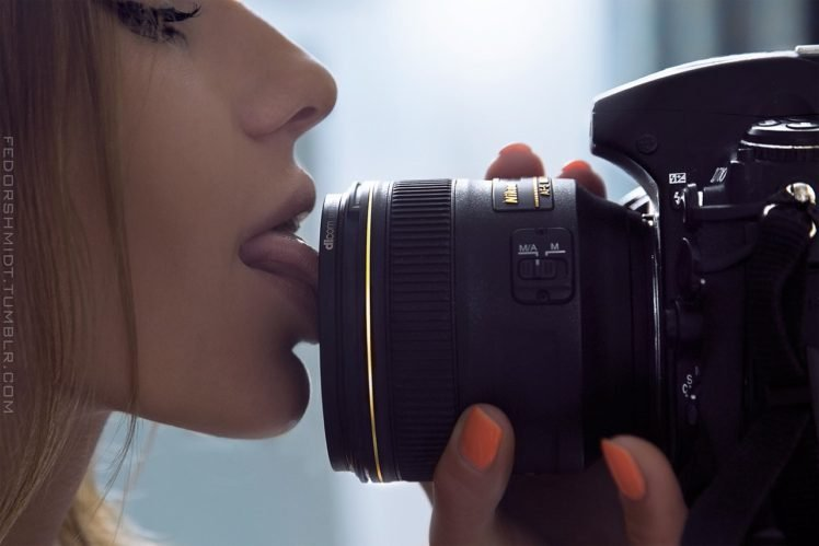 women, Long hair, Licking, Innuendo HD Wallpaper Desktop Background