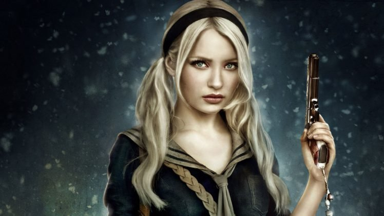 Sucker Punch Pistol Emily Browning Babydoll Hd Wallpapers