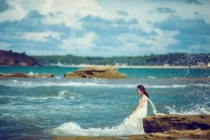 sea, Nature, Women