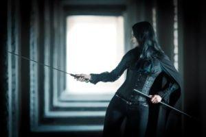 women, Sword