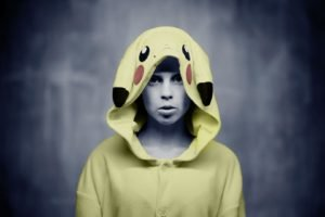 women, Yolandi Visser, Die Antwoord, Costumes, Pikachu, Pokemon, Music, Selective coloring