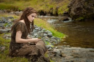 Emma Watson, Women, Actress, Women outdoors, Nature, Brunette, River, Noah (movie)