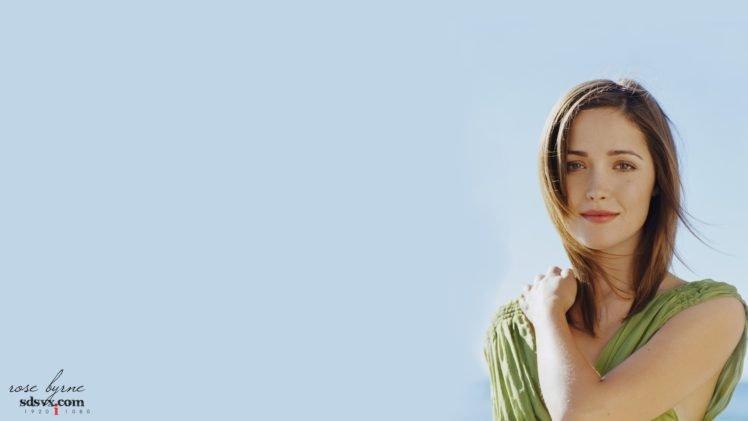 celebrity, Rose Byrne, Eyes HD Wallpaper Desktop Background