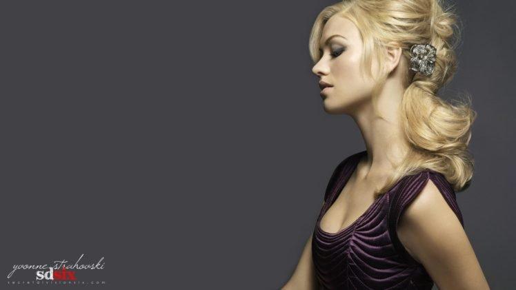 celebrity, Blonde, Cleavage, Yvonne Strahovski HD Wallpaper Desktop Background