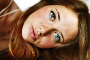 Lindsay Hansen, Redhead, Blue eyes, Model, Freckles