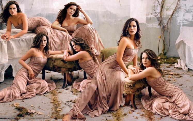 Kate Beckinsale, Women, Collage, Actress HD Wallpaper Desktop Background