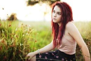 women, Women outdoors, Redhead
