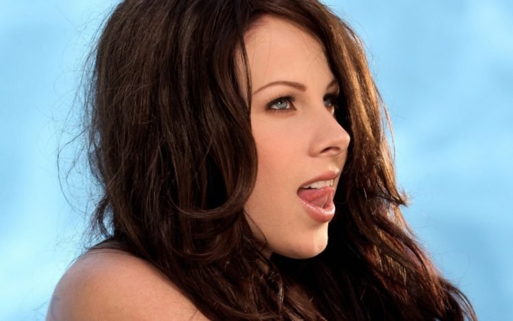 Gianna Michaels, Brunette, Blue eyes, Closeup, Pornstar HD Wallpaper Desktop Background