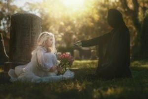 death, Grim Reaper, Tombstones, Graveyards, Women