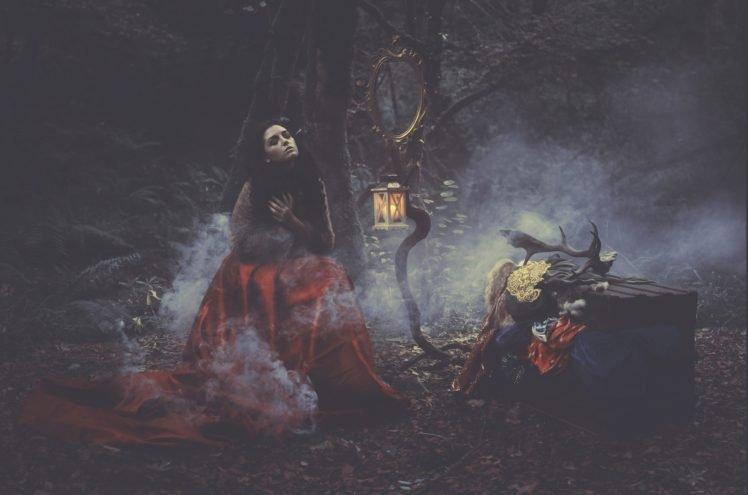 women, Model, Brunette, Witch HD Wallpaper Desktop Background